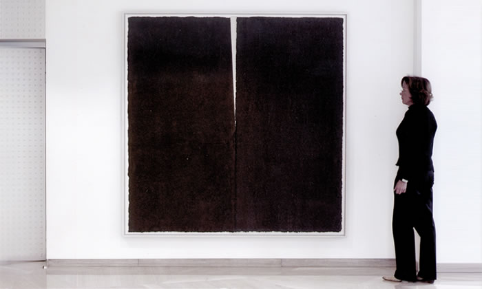 Art in the office – Painting by Richard Serra